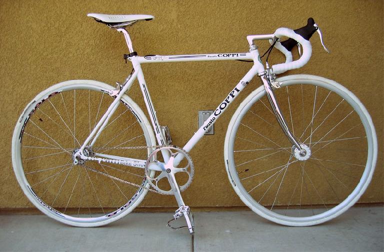 Jack Chou's white Coppi. Photo: RoadBikeReview.com forums.