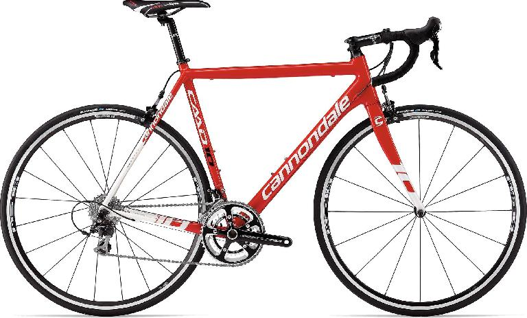 The new Cannondale CAAD10 in red/white. Photo: Cannondale Corporation.