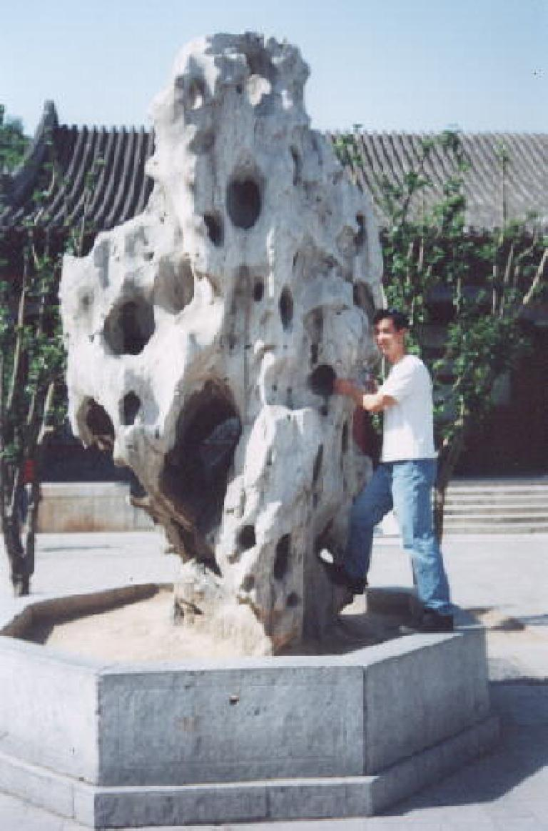 Even 9000 miles away from home at the Summer Palace, Felix Wong couldn't help but think about rock climbing! (May 28, 2002)