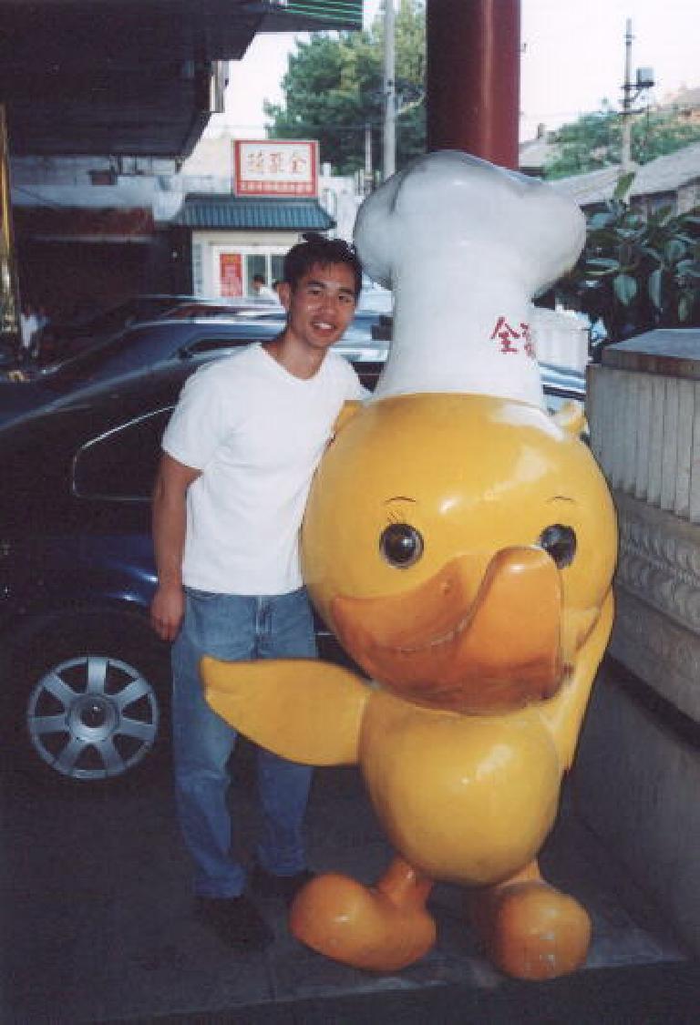 Felix Wong with Mr. Peking Duck himself! (May 28, 2002)