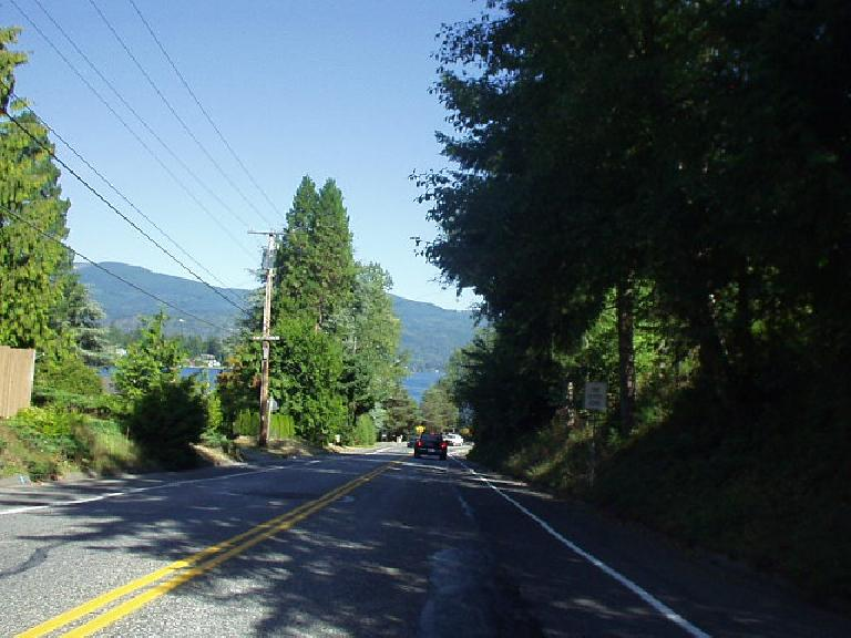 Beautiful rolling roadways, views of Lake Chatham and Mt. Baker, evergreen trees everywhere... yes.