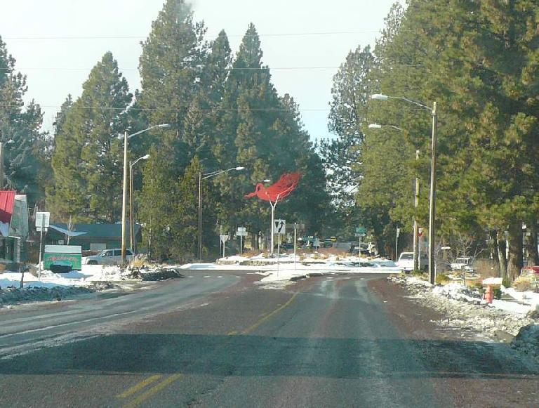 One thing I love about Bend are the numerous artsy traffic circles.