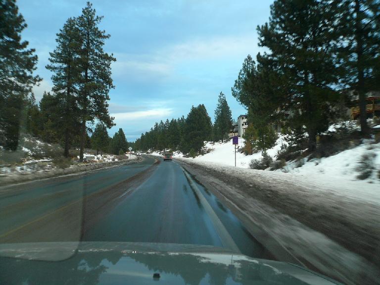 Driving along Mt. Washington Dr. (January 14, 2008)
