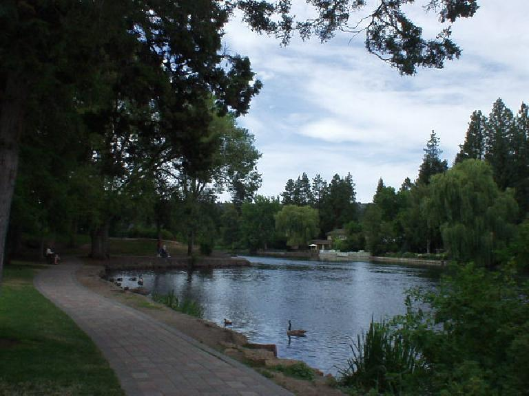 Drake Park along the Deschutes River.