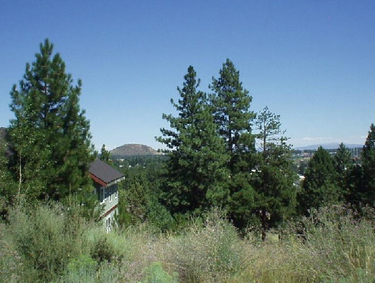 The view from Overturf Butte with a view of Pilot Butte and Bend below.