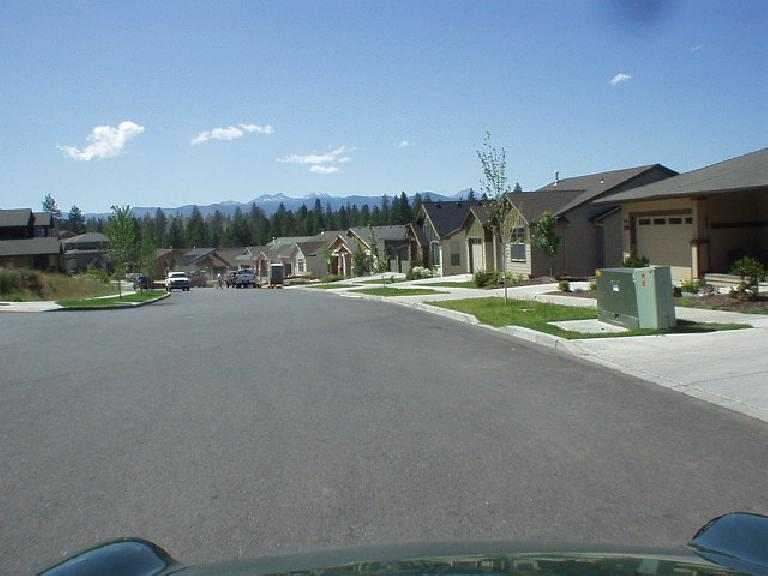 I think these homes are somewhere between Overturf Butte and Northwest Crossing (or maybe it was NW Crossing).  They are newish and smaller (e.g., not 2500+ sq. feet like most of the homes we saw) with views of the Cascades.
