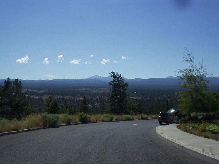 Awbrey Butte (on the side near the Awbrey Glen Golf Course) have unencumbered views of the Cascades, but all of the homes there were collossal (and hence expensive).