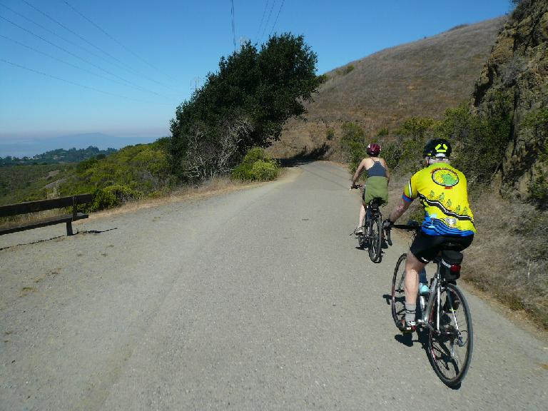After heading through Tilden Park and past Inspiration Point, we joined up with Nimitz Way.  This would be my first time on this trail despite having lived in Berkeley for 5 months, 11 years ago.