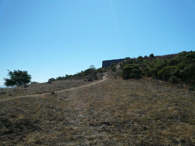 This is the former Nike Missile Site, our turnaround point.  It is at the end of 4-mile long Nimitz Way.