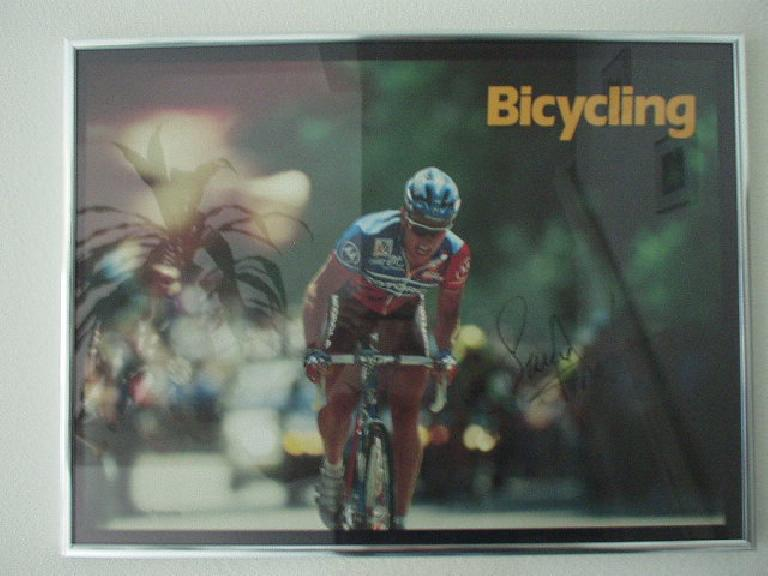 ...when he had a bicycling poster personally autographed by Lance Armstrong in '93, well before Lance became the 3rd most recognizable athlete in the world...