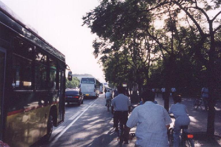 Navigating the streets with buses inches away really wasn't all that bad!