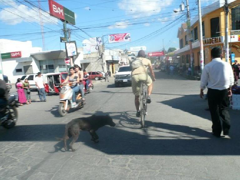 Navigating through central San Andres Itzapa.