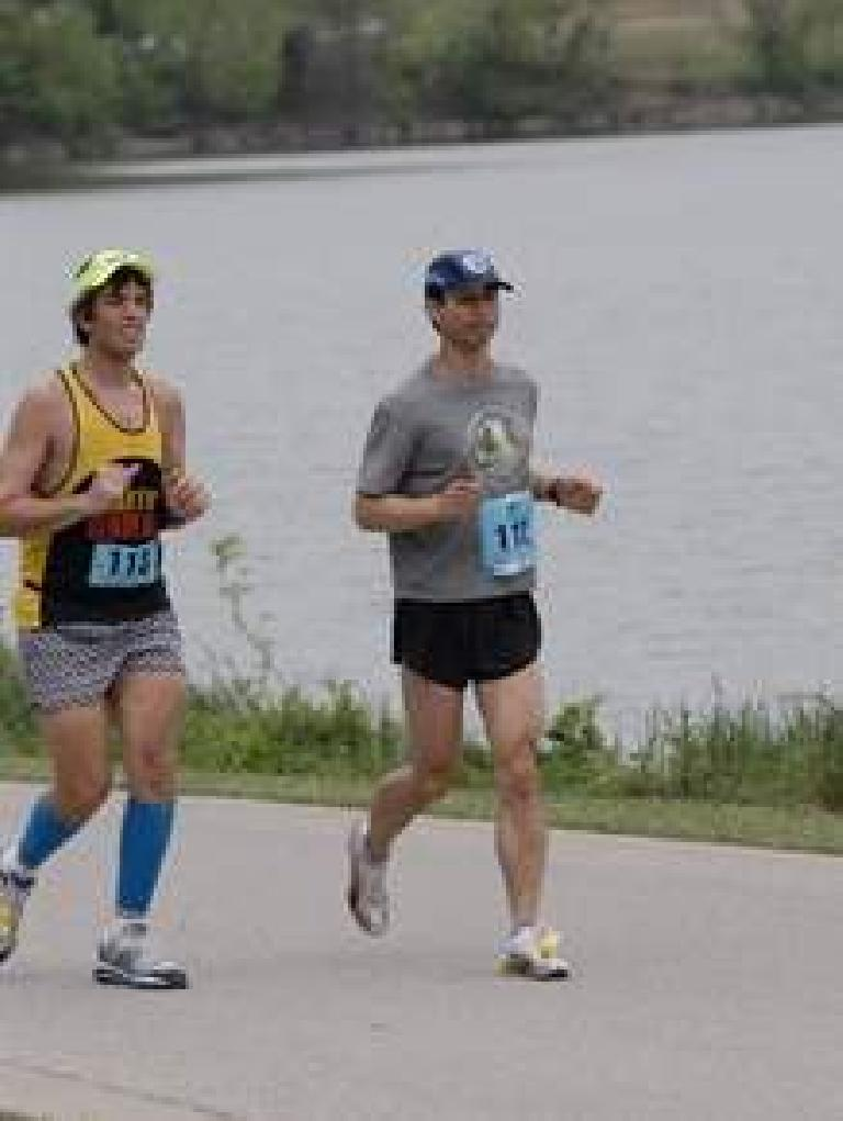 Running by White Rock Lake. Photo: Brightroom Event Photography.