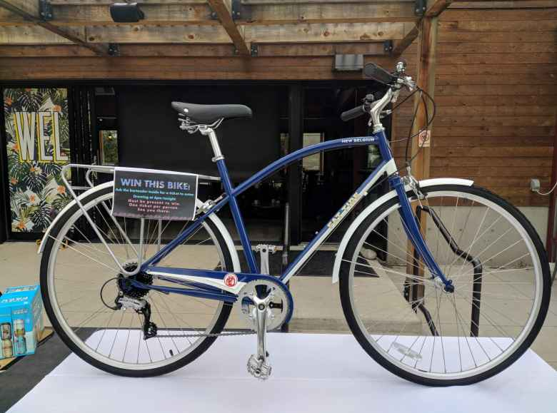 A New Belgium Fat Tire cruiser bike was to be raffled off at Bike to Work Day.