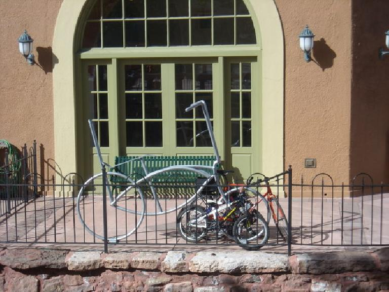 Bicycle rack in Manitou Springs, CO. (May 29, 2010)