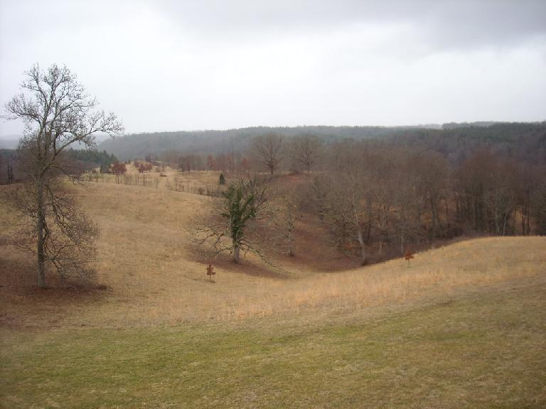 The estate had panoramic views of the mountains in western North Carolina.