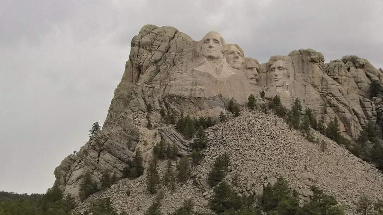 After finishing hiking, we drove over to Mount Rushmore. (May 28, 2016)