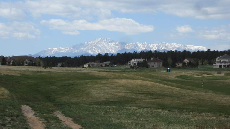 The view of Pikes Peak.
