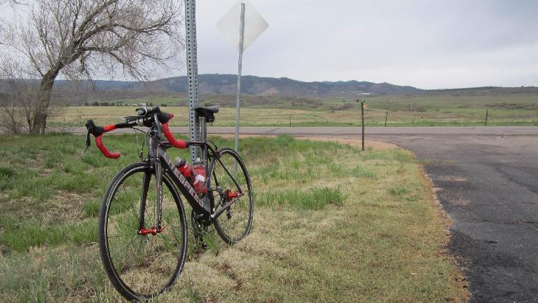 Mile 155: taking a break on Douglas County Rd. 105.