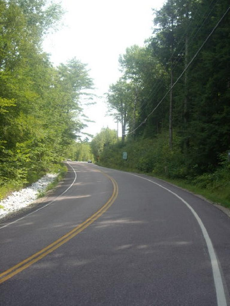 [Mile 527] This is it, the climb up Middlebury Gap (>15% grade in parts) that I had been anticipating for days.  By this time I felt good so it actually didn't feel that bad. (August 13, 2011)