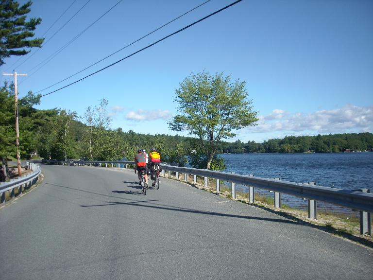 [Mile 79] Riding on Route 63 North in New Hampshire.