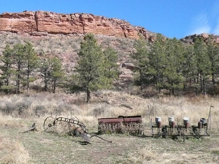 Old farm equipment near the cabin (next photo).