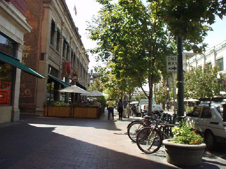 Downtown Boise was very clean and quite lively.