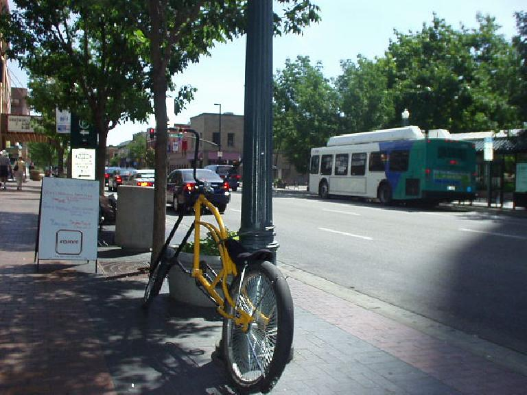 Nifty lowrider bicycle in downtown Boise.