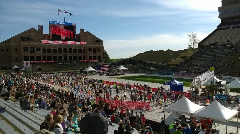 Finishers coming in at Folsom Field.