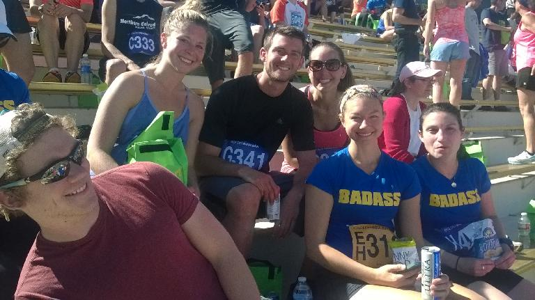 Julian, Jeni, Kyle, Danielle, Krista, and Stephanie after the race.