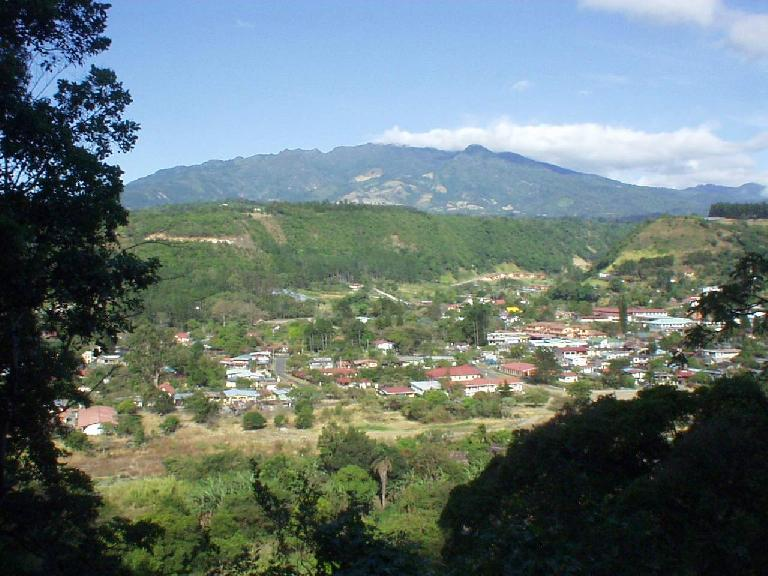 Overhead shot of Boquete from the road I ran on. (March 7, 2007)