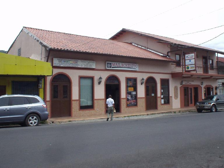 This Mailboxes Etc. was one of the only American chain stores in Boquete. (March 8, 2007)
