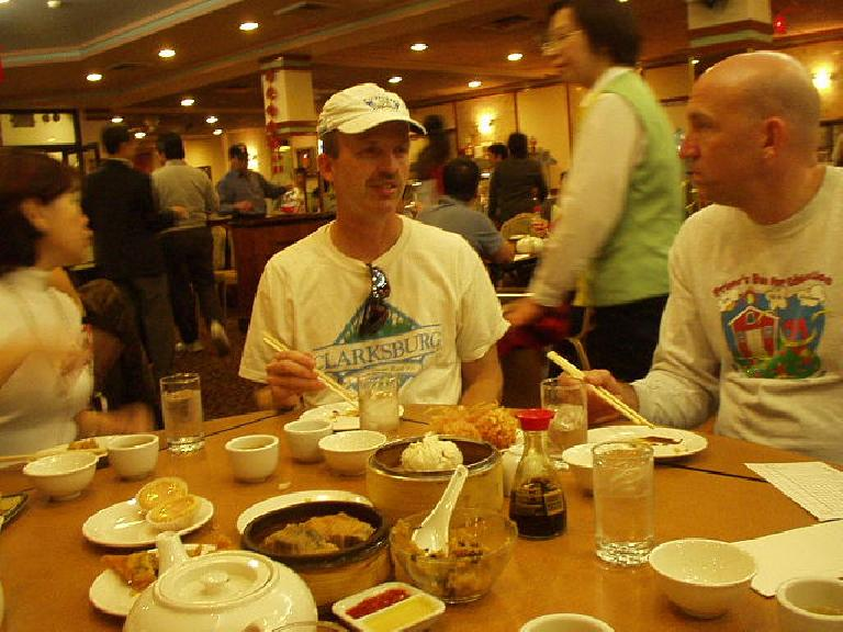 We had dim sum in China Pearl.  You can see Gail, Steve, and Russ in this photo.