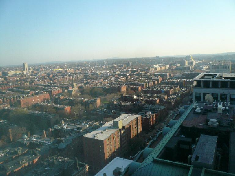 The view of Boston from Henry & Danny's room in the downtown Marriot.