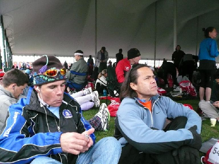 Eddie and Danny chillin' before the race.