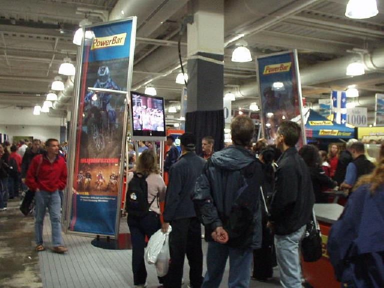 The pre-marathon expo at the Hynes Convention Center was huge! We spent 2 hours there and could not even stop by all of the booths. (April 16, 2005)