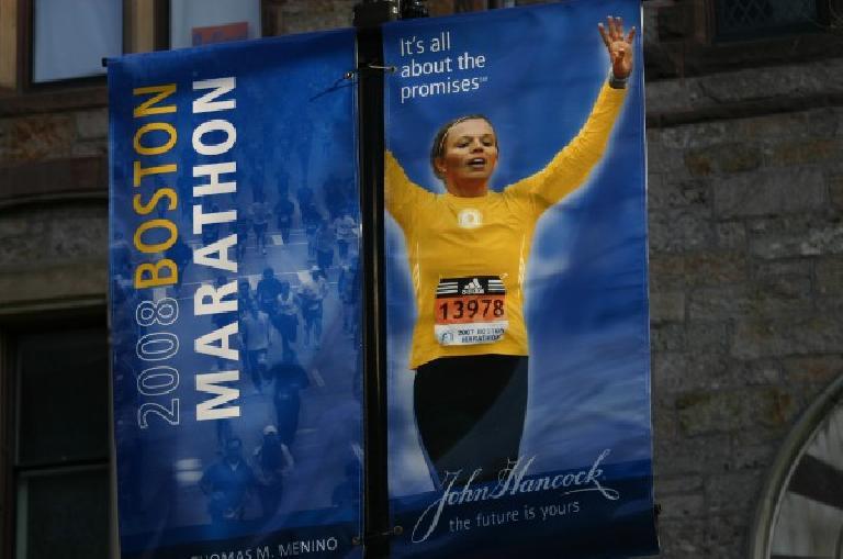 At the Boston Marathon expo. Photo: Eddie Metro.