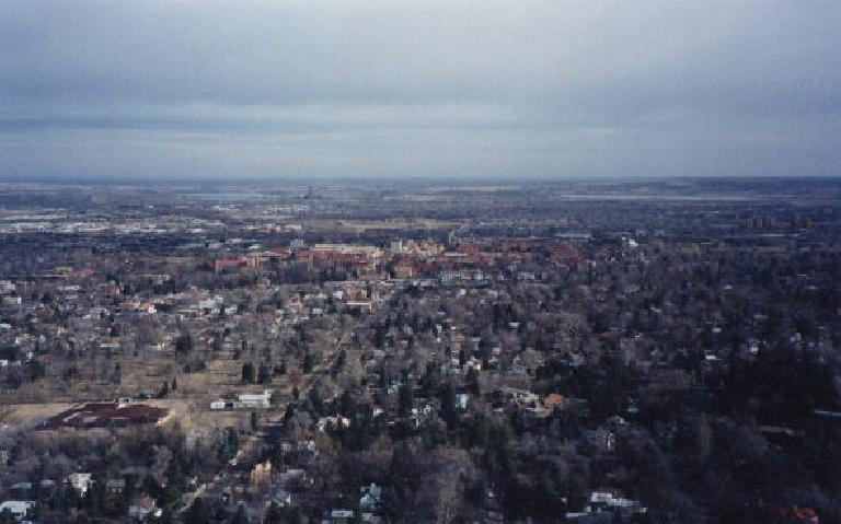 Nice view of Boulder from a nearby lookout point.