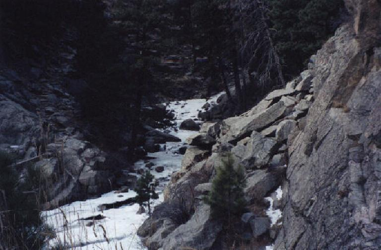 Stream leading to Boulder Falls.