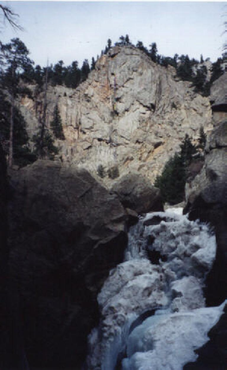 Boulder Falls as one big chunk of frozen ice!