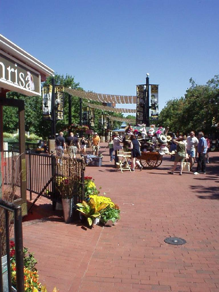 Another shot of a section of Pearl Street Mall.