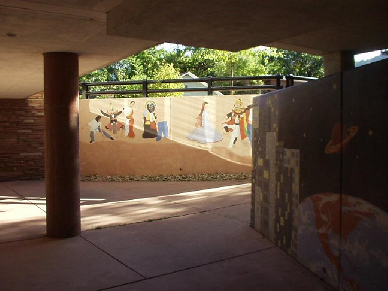 Murals outside the Boulder Library.