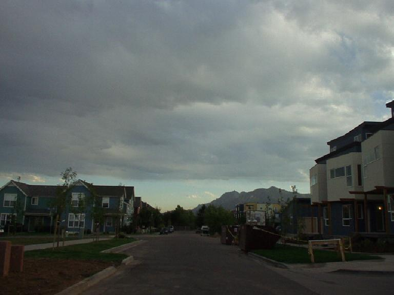 On the northern border of Boulder are new townhomes.