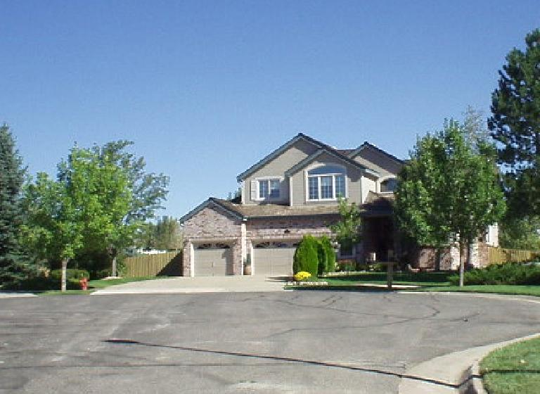 East of Boulder is Louisville, where there are larger contemporary homes.  This one was going for about $500k.