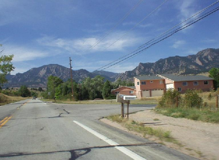 Eldorado Springs seemed like a pretty ideal location, being just 2-3 miles from the southern Boulder border and having nice views of the Flatirons.  It is also by the Eldorado State Park which has plenty of hiking trails and, supposedly, world-class rock climbing.