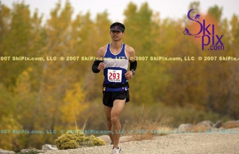 Clearly, this photo of me was taken early in the race because I was smiling.