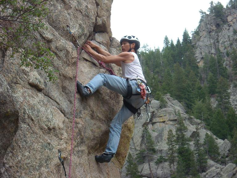 Now past the crux of Qs (5.9+).