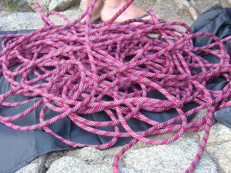 I had the honor of being the first to climb on Anita's new rope.