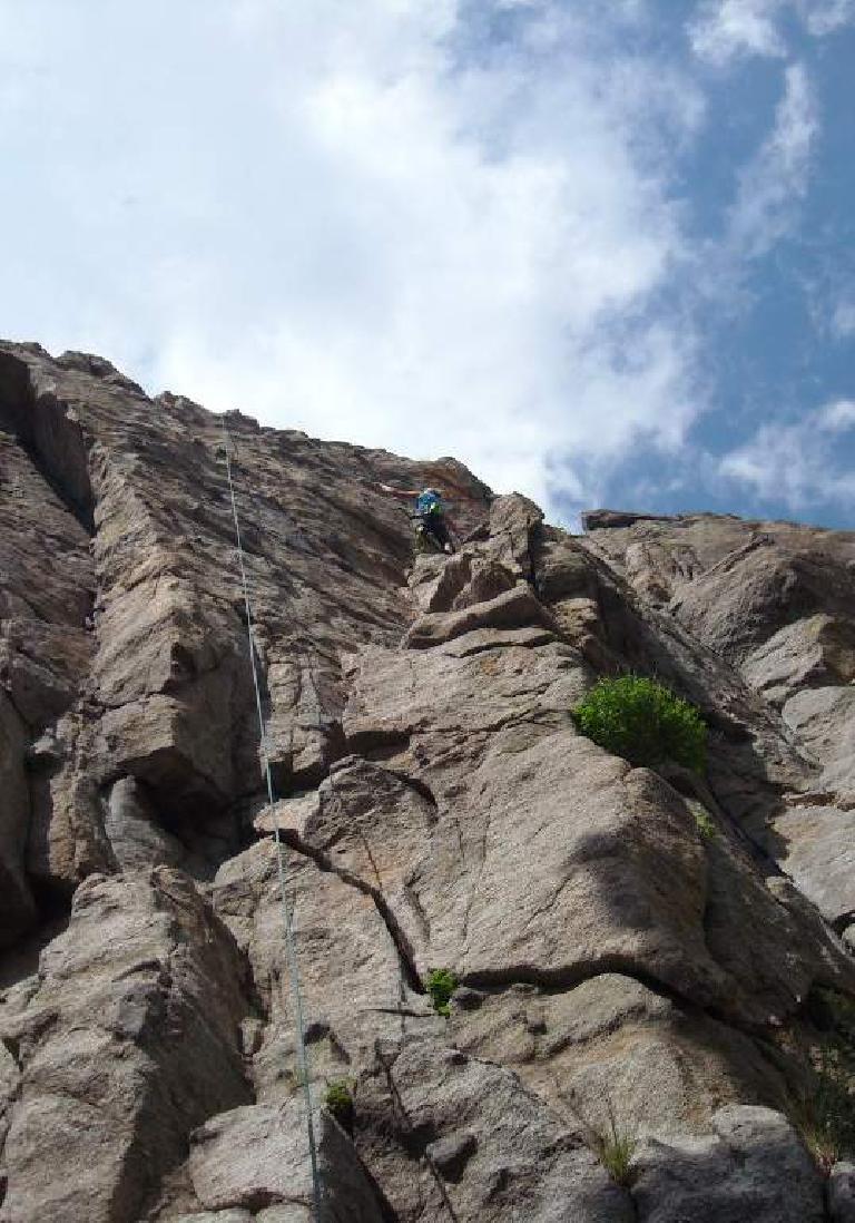 Anita almost at the top.