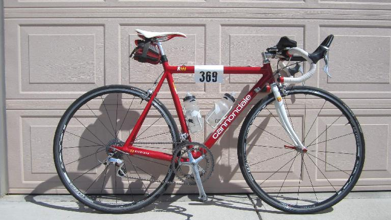 My Cannondale 3.0 returned to triathlon duty. (August 30, 2014)